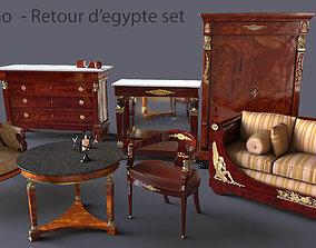 imperial Echise Bruno Retour d egypte furniture set 3D