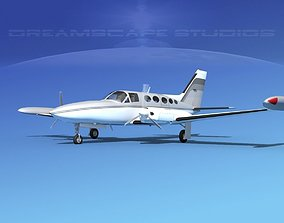 3D model Cessna 414 Chancellor V15