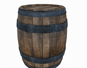 3D model Old barrel