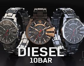 Diesel 10 Bar Watch 3D