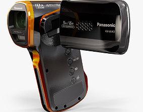 3D asset Panasonic HX-WA3 pocket camcorder