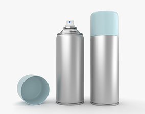 various Spray Can 3D model