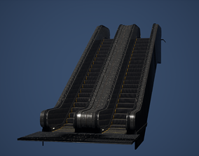 3D model Escalator Game Ready