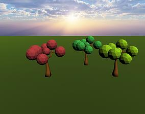 Tree 01 3D model summer