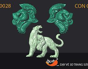 pendants 3D print model Tiger pendant