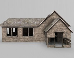 Abandoned Old Wooden Farm House 3D model