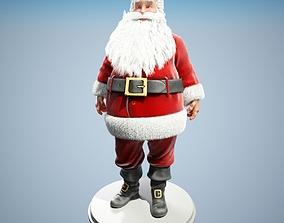 rigged Santa Claus 3D model Rigged