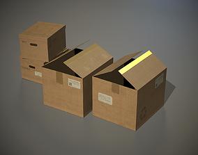 Cardboard Boxes PBR 3D model