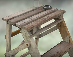 Step Ladder and Props 3D