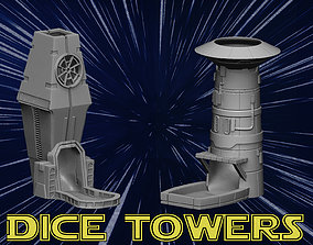 sci-fi Dice towers 3D print model