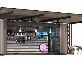 commercial Container coffee shop 3D model