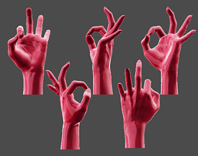 Detailed Female Hand-Okay Pose 3D print model