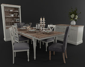Dining Table Table Setting 3D model