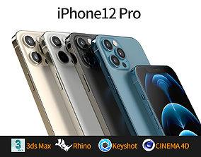 Apple iphone 12 Pro mobile phone 3D model 3D model 3D 1