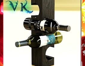 3D Wine Rack 6 and 2 Wine Bottles