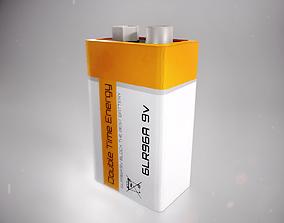 9V Battery 3D model realtime