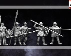 3D print model 28mm Medieval Spearmen Infantry