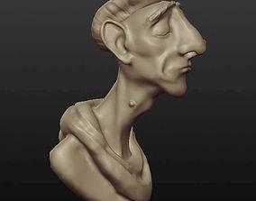 teeth Man bust 3D model