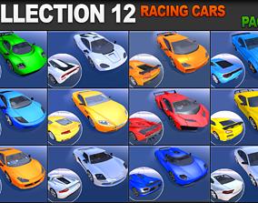 3D asset Racing Cars Pack 1