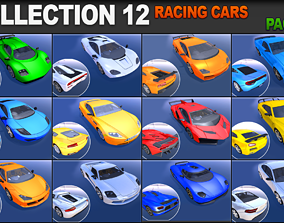 3D asset Racing Cars Pack 1