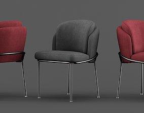 3D minotti fill noir chairs set