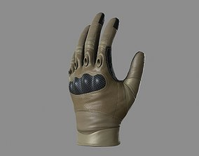 3D model game-ready Military Gloves