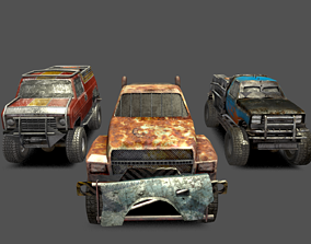 Derby trucks pack 3D model