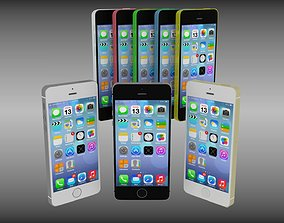 New Iphone 5S and 5C collection 3D model