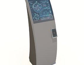 3D asset Interface kiosk