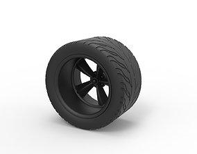 Diecast Rear sport wheel 3D print model