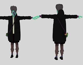 3d smoking man model animated