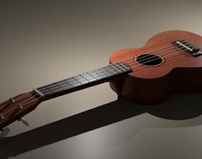 3D model animated Ukulele
