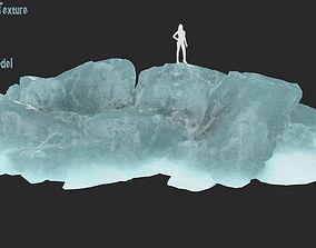 3D asset VR / AR ready iceberg frozen