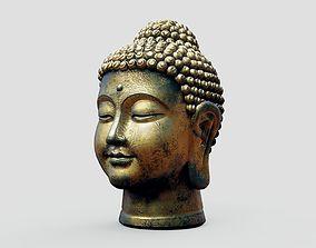 3D model Buddha Old Golden Head