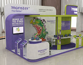 exhibition stand design trade 3D