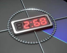 3D asset Video-Countdown-5-4-3-2-1