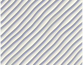 sandy ripples diagonal waves 3D model