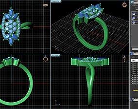 3D printable model Cocktail Ring Design sku RG-015-SS