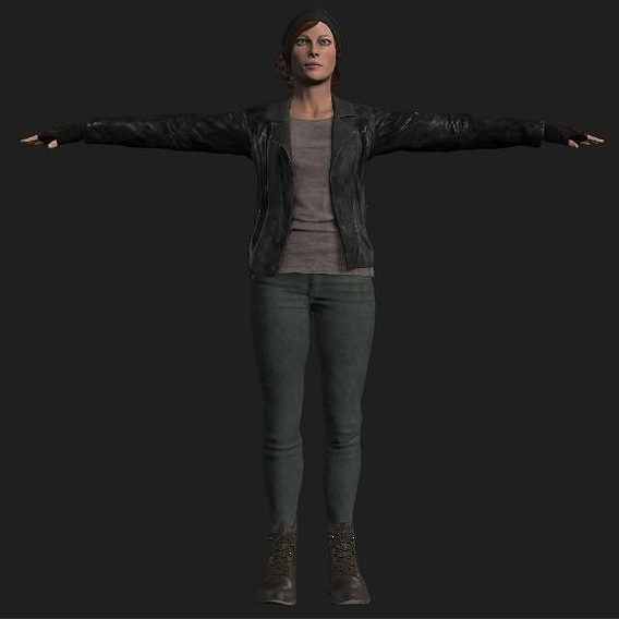 Game-Ready PBR Female survivor Rigged and Animated