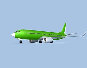 3D model rigged Boeing 737-800 Max Bare Metal