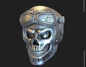 Biker helmet skull vol3 ring 3D print model