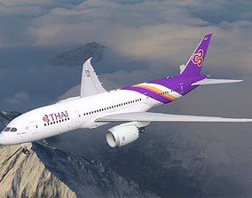 Boeing 787 Dreamliner Thai Airlines aircraft 3D model