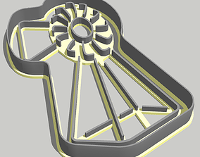 Windmill Cookie Cutter 3D printable model