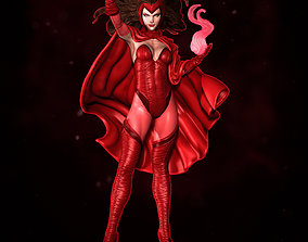 Scarlet Witch Statue 3D print model