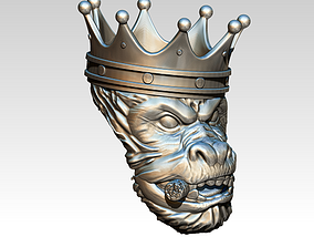 Crown Prince Ring with sigar 3D printable model