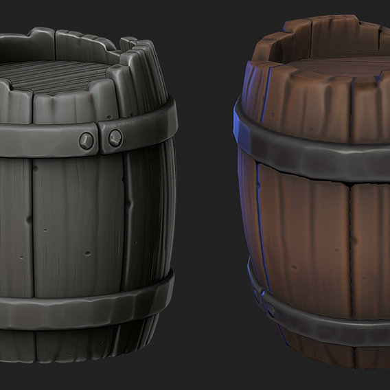 Stylized Barrel HP and LP