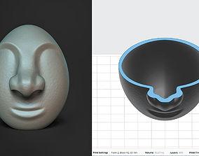 3D printable model Egg Face