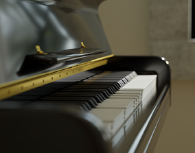 3D Acoustic Upright Piano