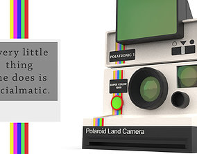 3D printable model Polaroid Land Camera 1000