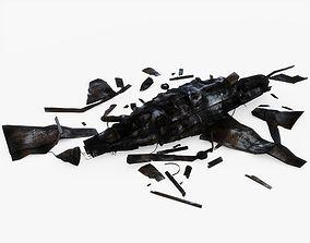 3D model Crashed Jet